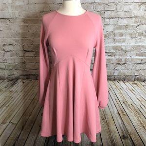 ASOS Long Sleeve Dress Size US 6 Pink